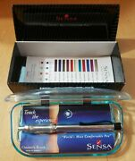 Sensa Zephyr Ballpoint Pen Crystal Silver And Black New In Box Made In Usa