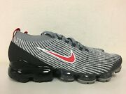 Nike Air Vapormax Flyknit 3 Particle Grey University Red Aj6900-012 Size 10