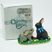 Charming Tails Wanna Play Silvestri Signed By Dean Griff Chocolate Bunny W/box
