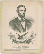 Abraham Lincoln Political Print Used In 1864 Election