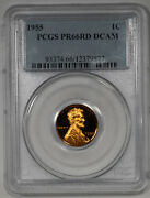 1955 Proof Lincoln Wheat Cent 1c Pcgs Pr 66 Red Dcam - Deep Cameo 877