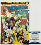 Ed Gale Autographed Howard The Duck Comic Book 2 Signed Bas Coa