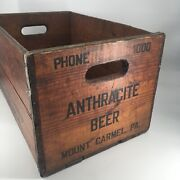 Insanely Rare Vintage Pre-prohibition Anthracite Brewing Co. Wooden Crate Clean