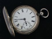 Antique Upjohn And Bright Fusee Hunter Pocket Watch + Sterling Case Parts