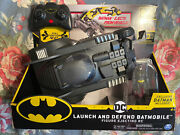 Spin Master Launch And Defend Batmobile Figure Ejecting Rc, 4.5in H By 12in L