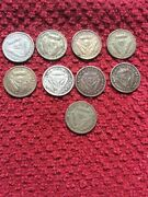 South Africa Three Pence Silver Coins Tickles 1951-59 Inc 9 Coins