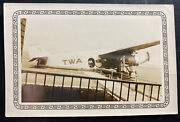 Mint England Real Picture Postcard Twa Airplane Early Aviation