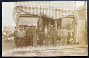 1911 Oberon Sd Usa Rppc Real Picture Postcard Cover Sioux Native American Indian