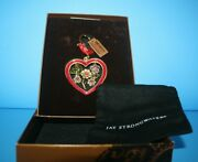 Vintage Jay Strongwater Red Enamel Heart Crystals Nib Valentines' Day