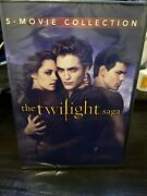 The Twilight Saga Complete 5-movie Collection Dvd 2-disc Set Brand New Sealed