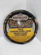 Kings Woodland Camo Design Truck Steering Wheel Cover Fit 17.3andrdquo- 18.1andrdquo