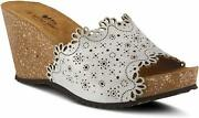 Spring Step Doilie Sandals Silver New