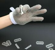 Kitchen Safe Chef Stainless Steel Mesh Cut Resistant Chain Mail Protective Glove