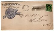 1901 Billings King And Co Ny Paint And Varnish 2-sided Advertising W/ Enclosures