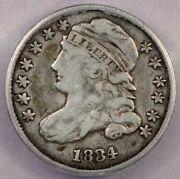 1834 Capped Bust Dime Icg Vg10
