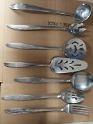 7 Piece Serving Set Gracious Wheat Stainless By Present Replacement Flatware