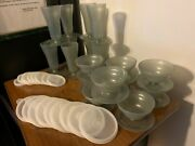 Tupperware 3 Piece Sets-9 Tall Parfait Cups And 9 Dessert Cups W/seals-754-296/733