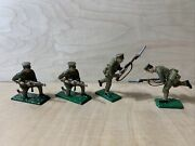 54mm Quartermaster Corps Hand Painted Pewter Soldiers Miniatures Set Of 4