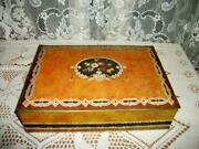 1920s Art Deco Flower Basket Uneeda Biscuit Tin Great Graphic French Farmhouse