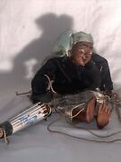 Vintage Rural Hand Made Marionettes / Puppets Female