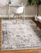 Unique Loom Sofia Collection Traditional Vintage Area Rug 4and039 X 6and039 Gray/ivory
