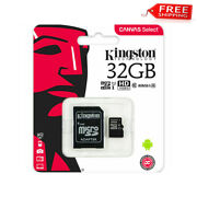 Brand New Kingston 32gb Micro Sd Memory Card 32g Canvas Select Plus 100mb/s A1