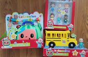 Cocomelon Bundle Family Friends 6-pack Checkup School Bus Brand New