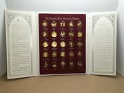 Franklin Mint Christmas Calendar 25 Day Replacement Advent Tree Gold Ornaments