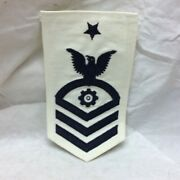Vintage Military Navy Patch Senior Chief Petty Officer Engineman Rank