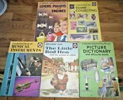 Ladybird Books X 5 Stamp Collecting/little Red Hen/musical Instruments/levers
