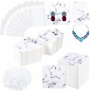 500 Pieces Marble Earring Necklace Display Cards Holder Set Includes 200 X Inch