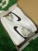 Nike Air Force 1 '07 Low White Black Swoosh Af1 Size 7-15 Ct2302-100 Brand New