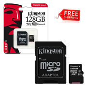 Brand New Kingston 128gb Micro Sd Memory Card 128g Canvas Select Plus 100mb/s A1