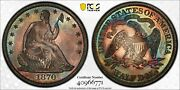 1870 Seated Liberty Half Dollar Pcgs Pr 64 And Cac Fantastic Originality And Color
