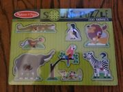 New Melissa And Doug Zoo Animals Sound Puzzle Traditional Toys