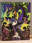 Disneyand039s Fine Art Maleficentand039s Fury Signed Tim Rogerson Giclee On Canvas Lmt Ed