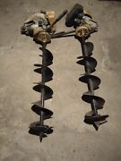 2 Antique Old Vintage Jiffy Gas 2ft 6 Ice Augers