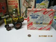 Jolly Joe Army Jeep By Marx Wind Up Crazy Car In Box Near Mint Works 1950and039s