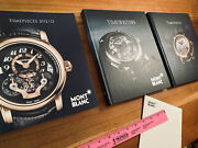 Mont Blanc Books Catalog Coffee Table Books Timewriter Watch Gold Dvd