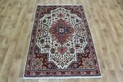 Old Handmade Persian Rug, Floral Design 150 X 100 Cm Hand Knotted Wool Rug