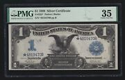 Us 1899 1 Black Eagle Silver Certificate Fr 232 Star Note Pmg 35 Ch Vf 470