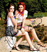 Ariana Grande And Elizabeth Gillies Autographed Signed 8x10 Photo Reprint