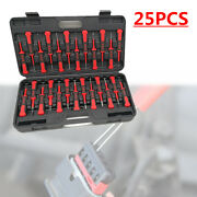 25x Car Motorcycle Crimp Terminal Wiring Connector Pin Puller Release Tool +case