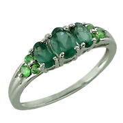 Solid 18k Gold Casual Ring With Natural Alex Color Apatite 1.27 Ct. Gemstone