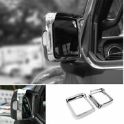 For Jeep Wrangler Jl 2018-2020 Abs Chrome Rear View Side Door Mirror Frame Cover