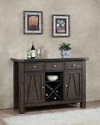 Brown Wood Wine Rack Sideboard Buffet Server Storage Cabinet With Drawers, Sh...