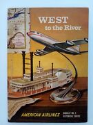 American Airlines West To The River Ny To St Louis Historical Series Brochure