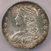 1833 Capped Bust Half Dollar Icg Ms63+ Beautifully Toned And So Flashy Wow