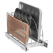 Pull Out Organizer Rack For Bakeware - Sliding Kitchen Cabinet Organizers And W