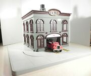 O Gauge Mth Railking Operating Fire House Building Accessory 30-91021 Station